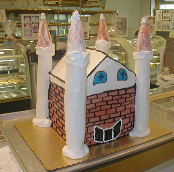 A FULLY EATABLE CASTLE CAKE TO YOUR SPECKS...