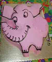 Elephant shape cake FOR YOUR BABY'S PARTY