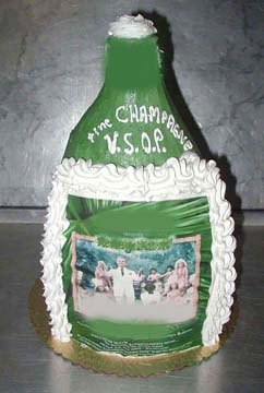 A BOTTLE OF CHAMPAINE FOR YOU MADE OUT OF STRAWBERRY & CREAM